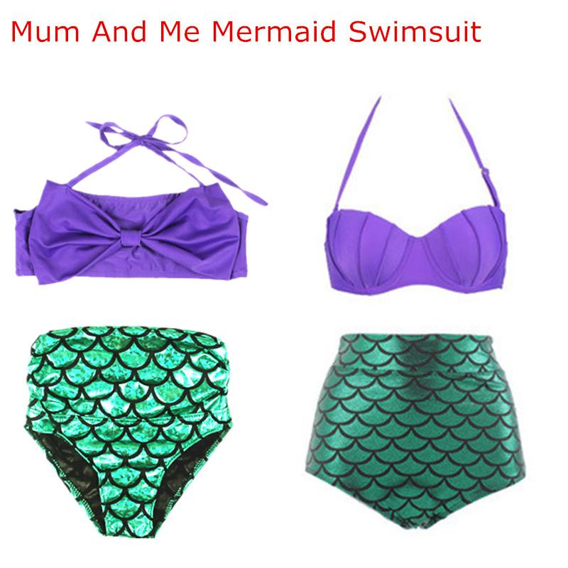 749e8e134d Family Matching Mermaid Swimwear Mother And Daughter Swimming Clothing  Family Look Mom And Daughter Swimwear Clothes Outfits Father And Son  Matching Outfits ...