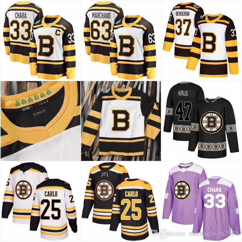 half off 1907b aef16 2019 Winter Classic Boston Bruins Jerseys 40 Tuukka Rask 41 Jaroslav Halak  27 John Moore 86 Kevan Miller 25 Brandon Carlo Hockey Jerseys