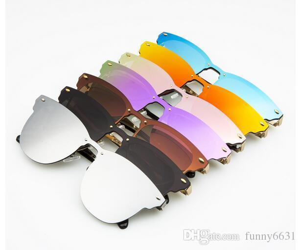 l'uomo dell'argento del metallo della bicicletta degli uomini all'aperto di sport di modo di sport degli occhiali da sole che guidano gli occhiali di specchio del vento degli occhiali da sole libera il trasporto
