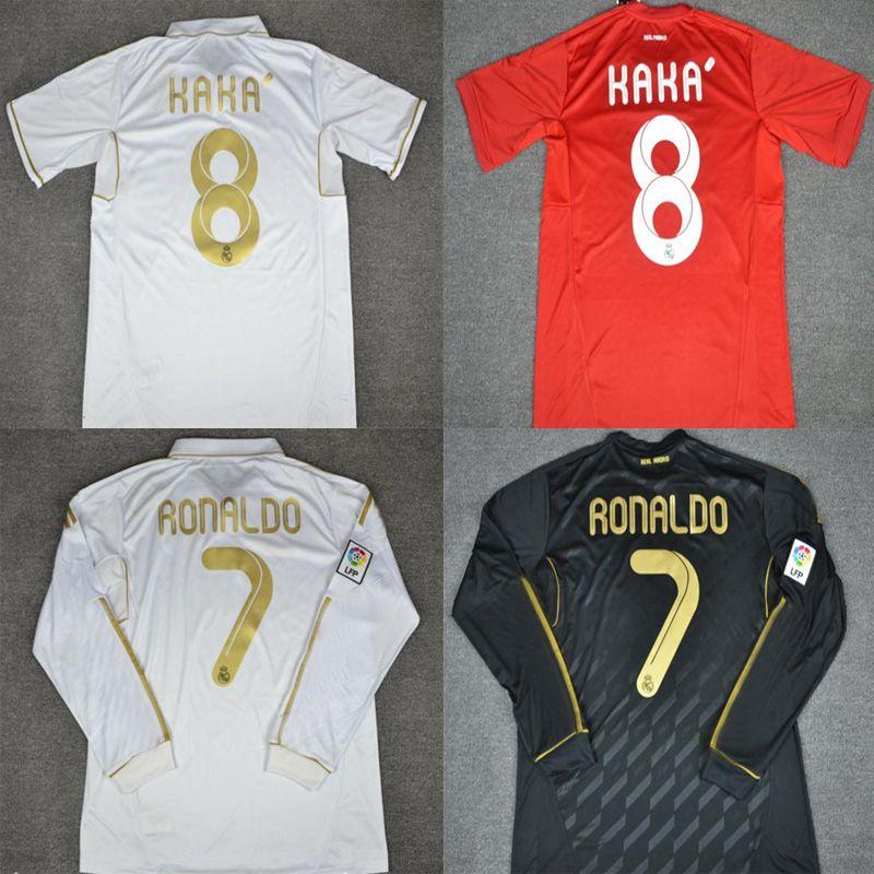 ad419102b 2019 11 12 Real Madrid Soccer Jeresy  22 Di Maria  14 Alonso  7 Ronaldo  8  Kaka  10 Ozil Jersey 2011 2012 Vintage Trikot Football Shirts Maillot From  ...