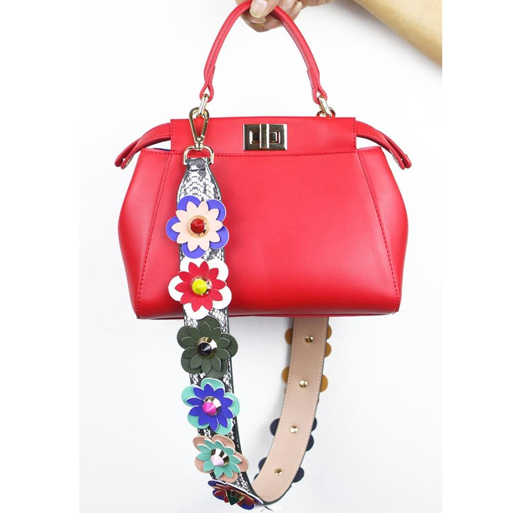 df2cbb5f2435 Strap You Flower Women Bag Strap with Leather Female Bag Part Female ...