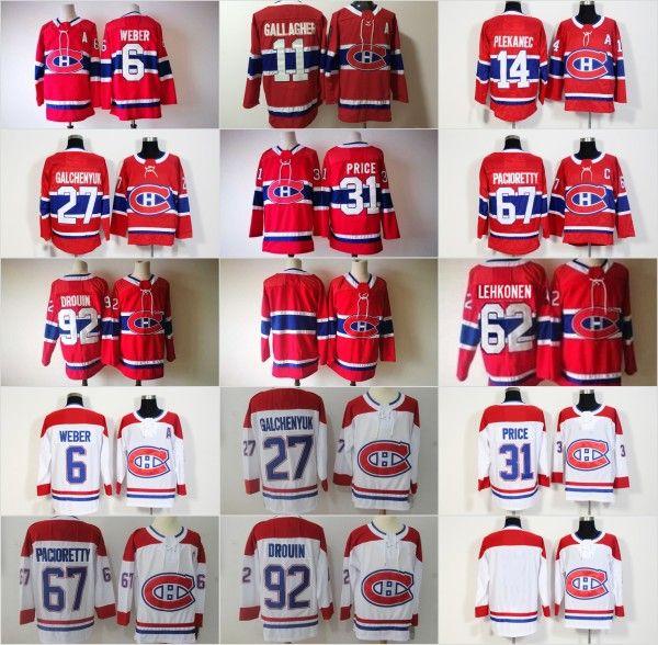 buy popular 24878 9dc0d 2018 New Season 67 Max Pacioretty Jersey Montreal Canadiens Red White 31  Carey Price 6 Shea Weber 92 Jonathan Drouin Alex Galchenyuk Jerseys