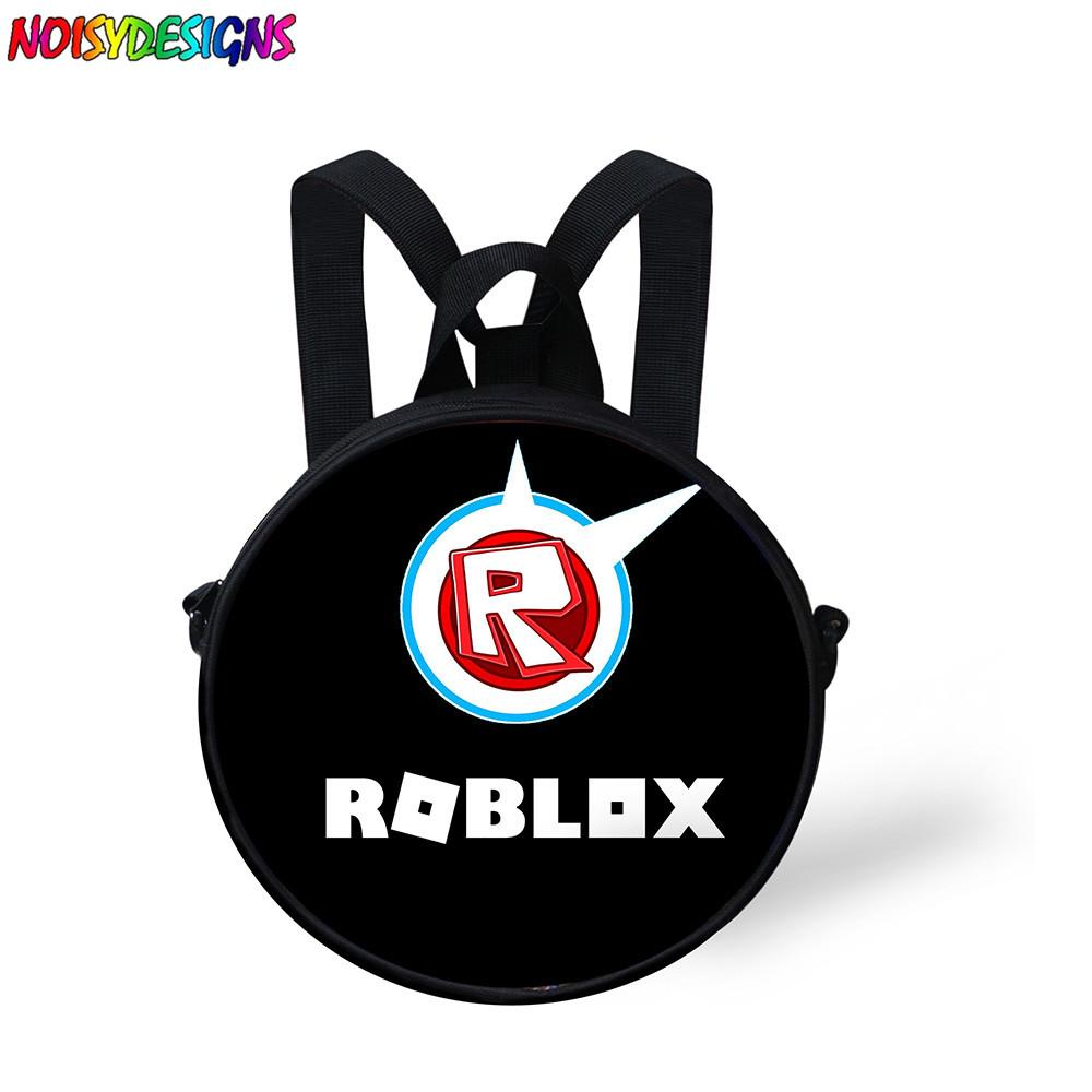 Noisydesigns funny Roblox Games Printing Backpack for Toddler Kids Round  Design Boys Girls School Bagpack Preppy Child Bookbags
