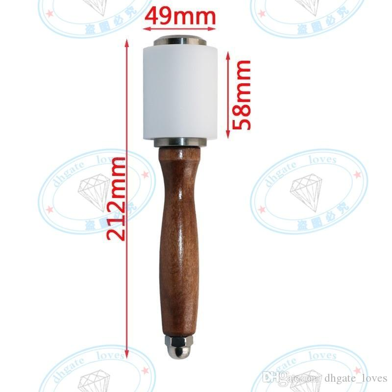 New Nylon Hammer Leather craft Carving Hammer Sew Leather Cowhide Tool Kit with Wooden Handle GBN-058