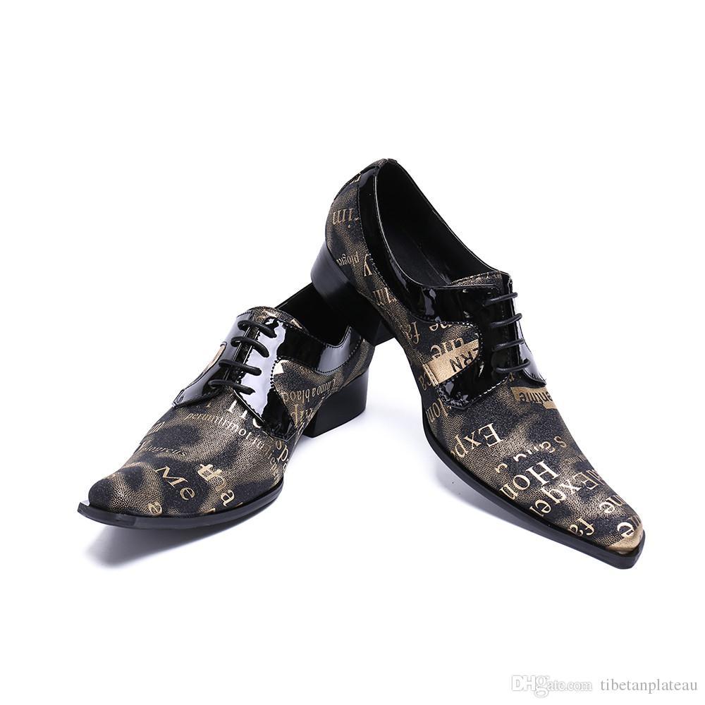 2b0c01c44e Compre Christia Bella Hombres Zapatos Oxfords Vestido De Novia De Lujo Zapatos  Italianos Zapatos De Hombre De Cuero Genuino Con Puntera Formales Mocassin  ...