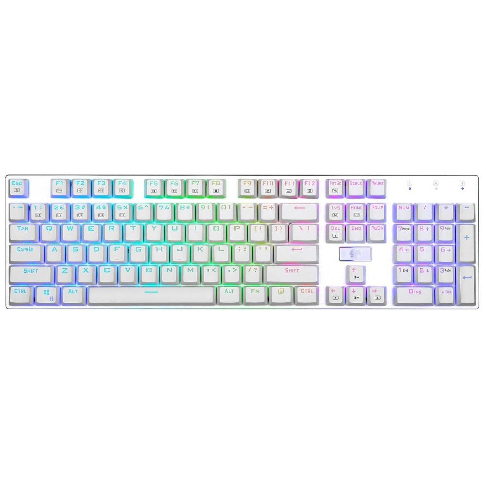 b6b0af3996e Z 88 Eagle RGB LED Backlit Mechanical Gaming Keyboard Brown Switch Aluminum  Ergonomic 104 Keys White Keyboard Full Size Ergonomic Wireless Keyboard ...