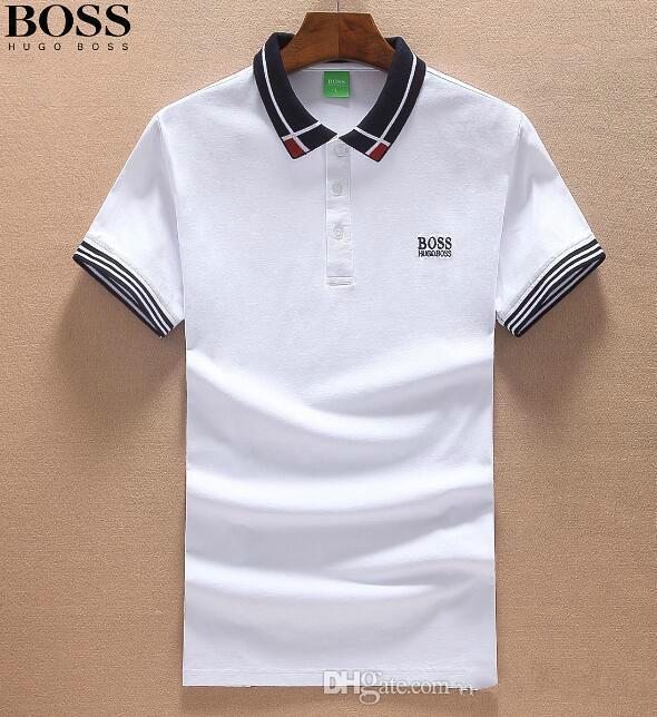 ccac13bdd New Fashion Casual High Quality Summer Hot Sale Boss Lapel Polo ...