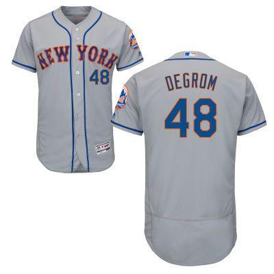 newest 84cab 58fb1 Men s New York Mets #48 Jacob deGrom Yoenis Cespedes Noah Syndergaard Tim  Tebow Jerseys
