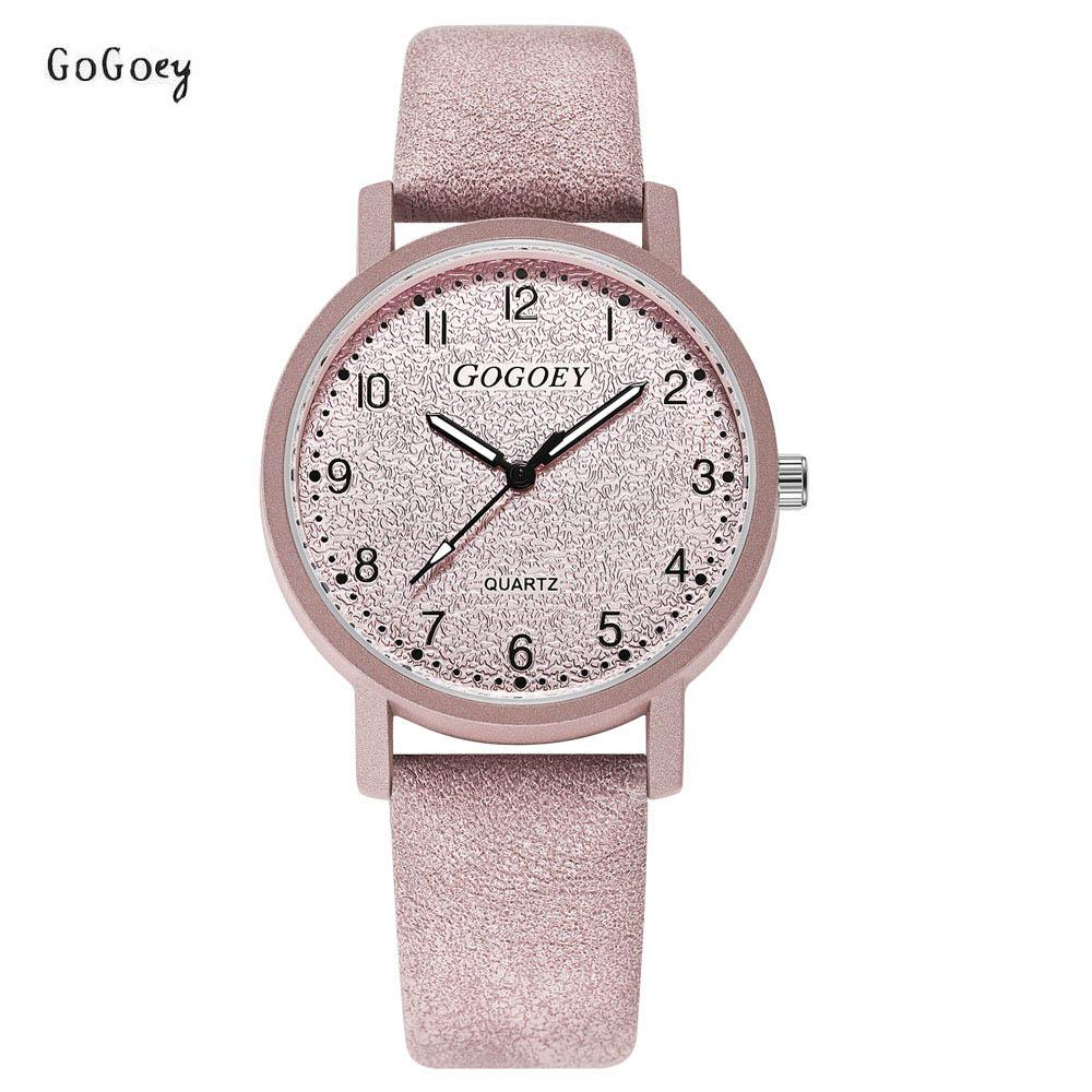 Großhandel Marke Damenuhren Mode Leder Armbanduhren Frauen Uhren