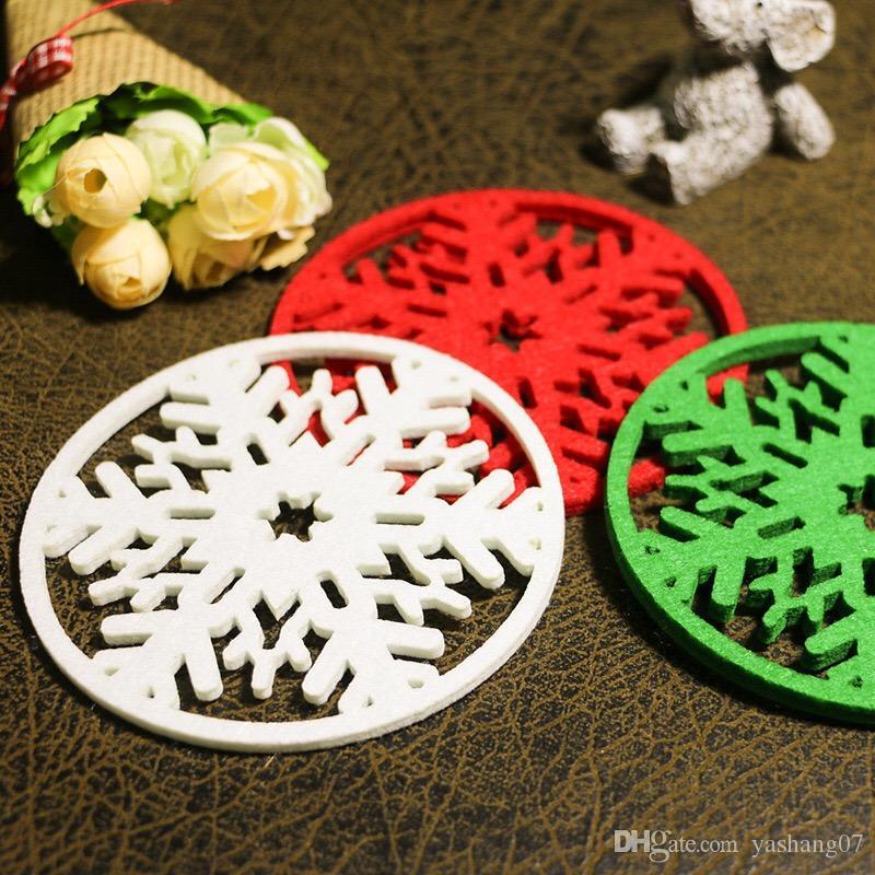 Weihnachten 2019 Schnee.2019 Weihnachten Ornament Haushaltswaren Weihnachten Schnee Tasse Matte Vlies Tuch Decke Cup Matte Essen Isolierung Matte
