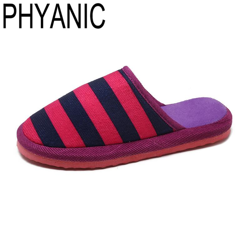 3335ac6a4cd Wholesale Slipper Women Striped Bottom Soft Home Slippers Women Indoor  Slippers Slip-On Shoes For Bedroom House Warm Cotton Shoes Online with   50.68 Pair on ...