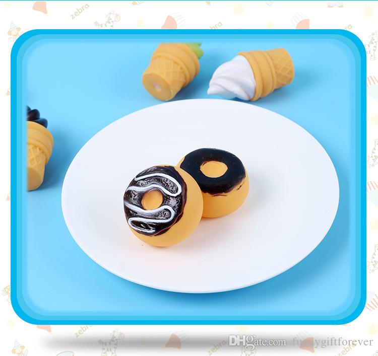 Summer Cartoon Float Water Swimming Child's Play Mouth Mini Ice Cream Donuts Educational for Children Baby Bath Toys