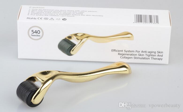 Venta caliente 540 Agujas Derma Micro Needle Skin Roller Dermatología Terapia Microneedle Dermaroller Para La Piel Acné Herramienta de la Belleza de la cicatriz