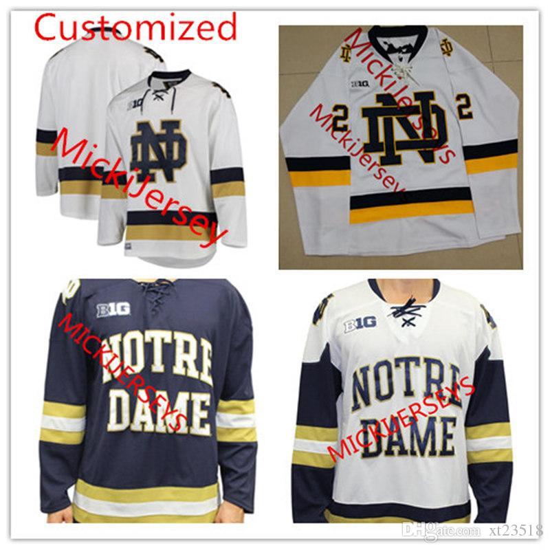 d1b6217e95a Großhandel Mens NCAA Benutzerdefinierte Notre Dame Fighting Irish College  Hockey Jersey 9 Anders Lee 18 JAKE EVANS 22 ANDREW PEEKE Von Xt23518, ...