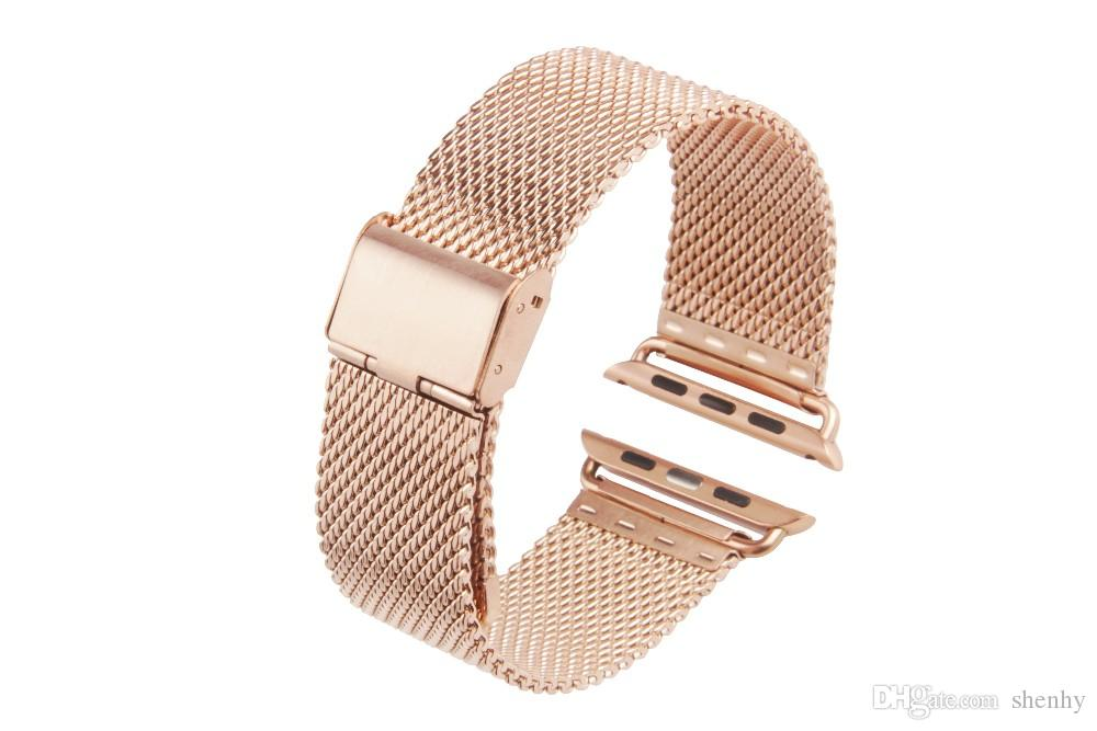 Original Link Bracelet strap & Milanese Loop watchbands Stainless Steel band for apple watch 38/40/42mm Watchband For iWatch series 1 2 3 4