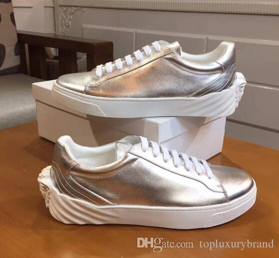 a60167f0e48 Luxury Designer Men Sneakers New Street Fashion Brand Medusa Shoes ...