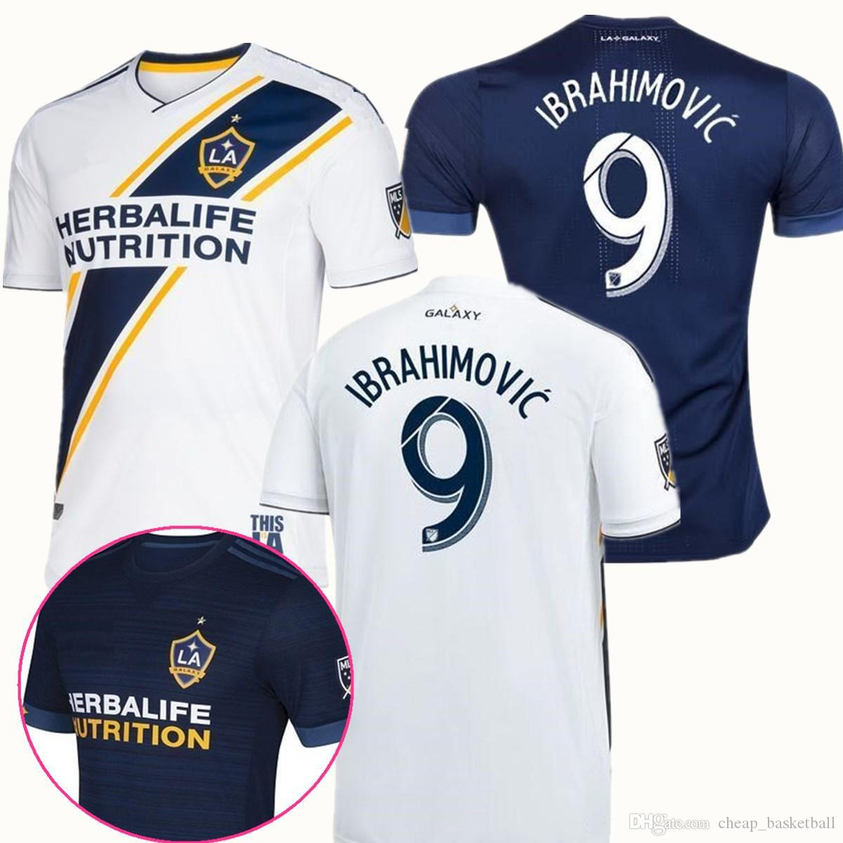 74170b67fdd LA Galaxy Soccer Jersey 2018 IBRAHIMOVIC 18 19 Los Angeles Galaxy ...