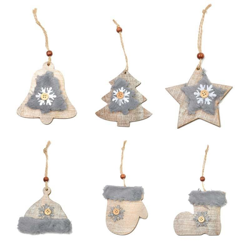 wooden christmas tree hanging ornaments drops new year festival party supplies christmas decorations for home 95cm haifhaif luxury christmas decorations - Wooden Christmas Decorations To Make