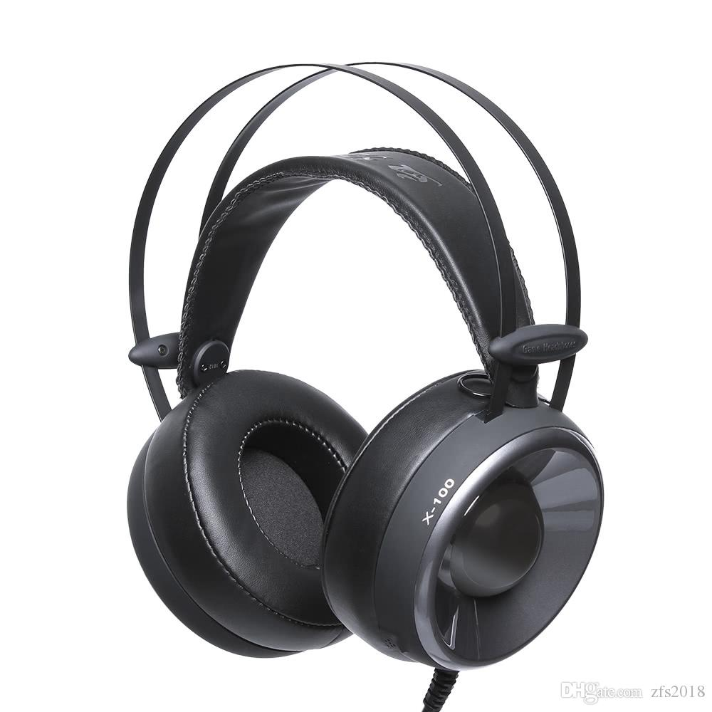 X 100 Gaming Headphones 35mm Professional Over Ear Stereo Microphone Amplifier With Noise Suppression Headsets Cancellation Music Earphones W Mic Colorful Led Black Headphone Amp