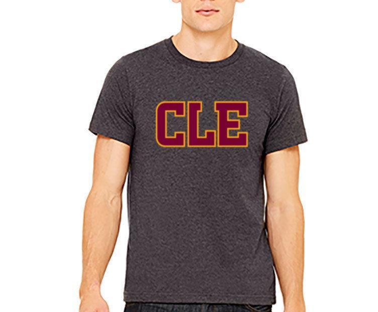 sports shoes 98ed3 996d9 CLE Cleveland Cavs Lebron Custom Mens T-Shirt-Dark Gray Heather
