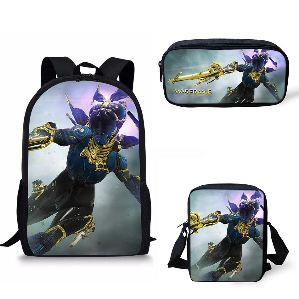 Noisydesigns Warframe School Bags Warframe Print School Backpack For ...