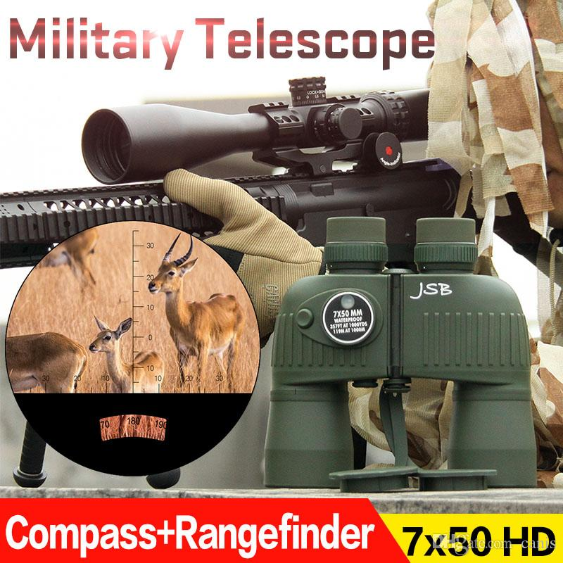 E.T Dragon Green Color Tactical Compass Rangefinder Outdoor Telescope 7x50 Binocular Hunting Telescope Free Shipping CL3-0043