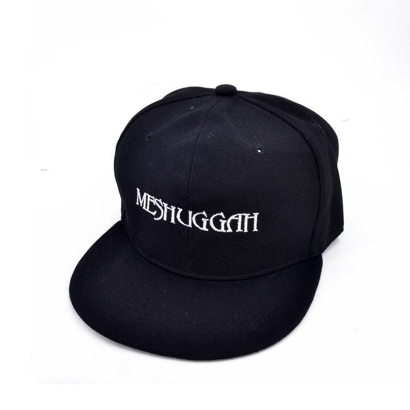 bb8a77d63f7 MESHUGGAH Band Baseball Cap Embroidery Letter Logo Rock Thrash Men ...