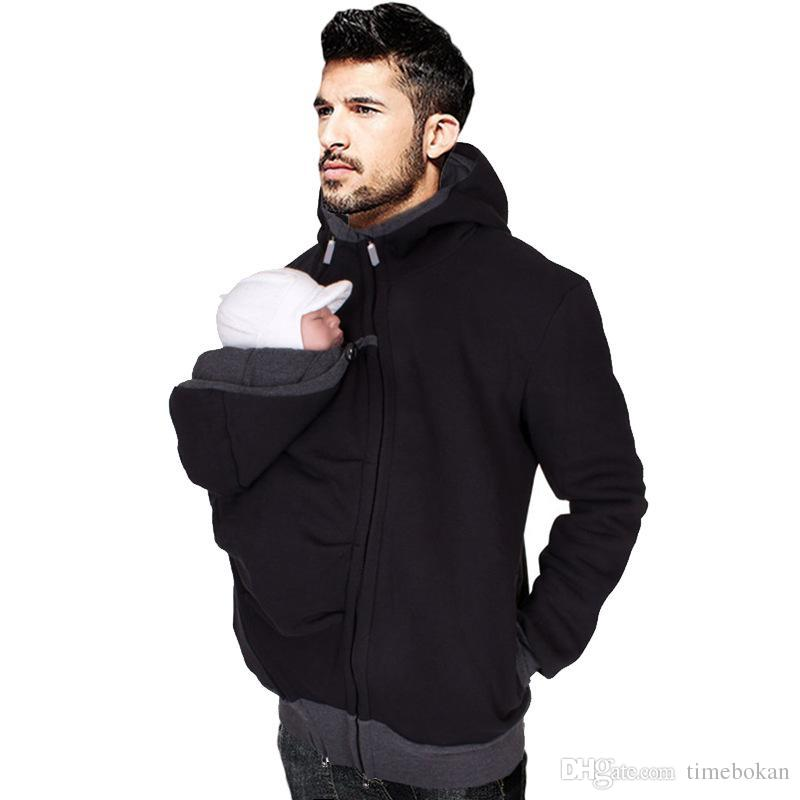 Dad Autumn Winter Clothes Baby Carrier Kangaroo Cotton Outerwear