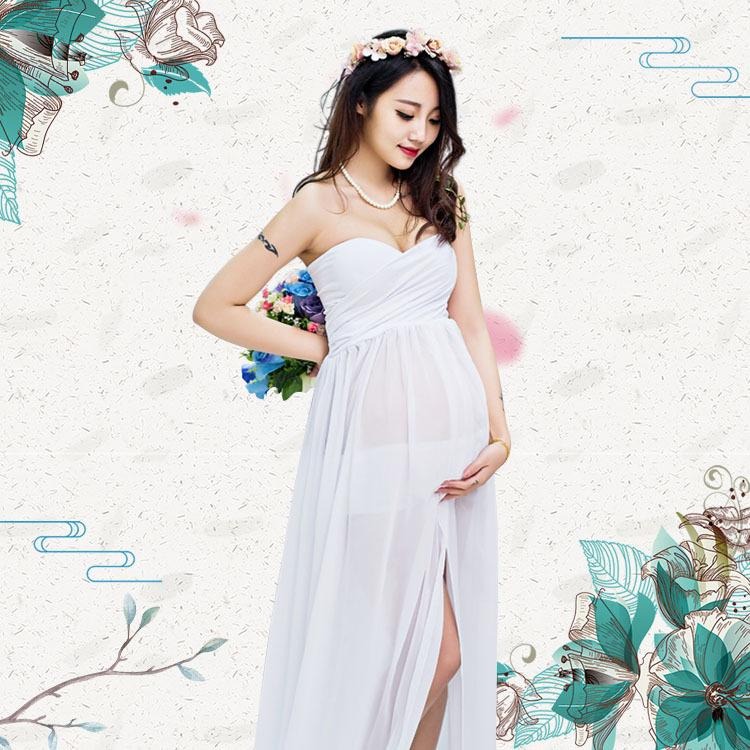 Maternity Gown Photography Props Maternity Dress Pregnant Women ...