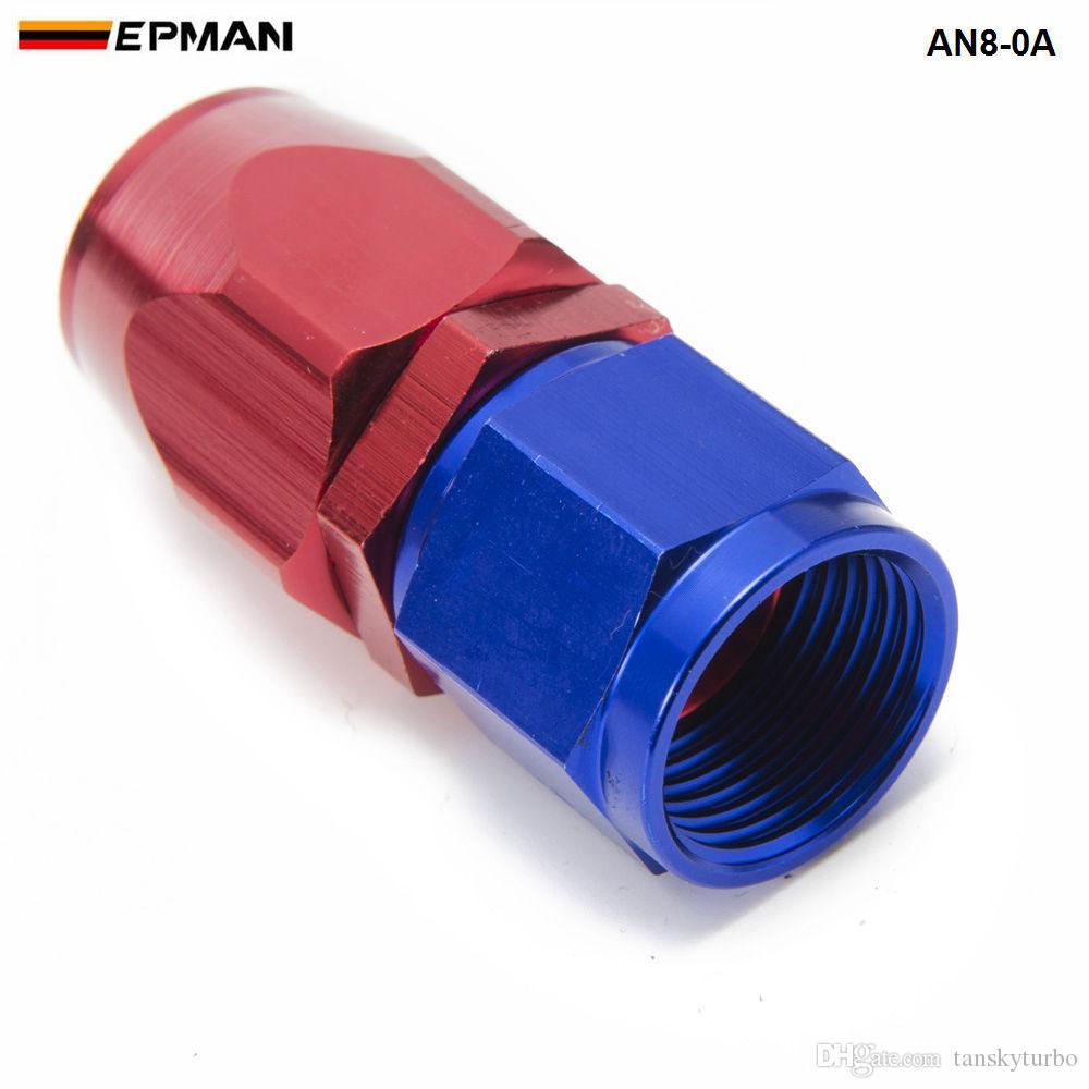 EPMAN -10 TEILE / LOS Universal AN8 Gerade Öl / Kraftstoffleitung Schlauchende Aluminium Fitting / 8-AN Ölkühlerschlauch Fit AN8-0A AN8-0A