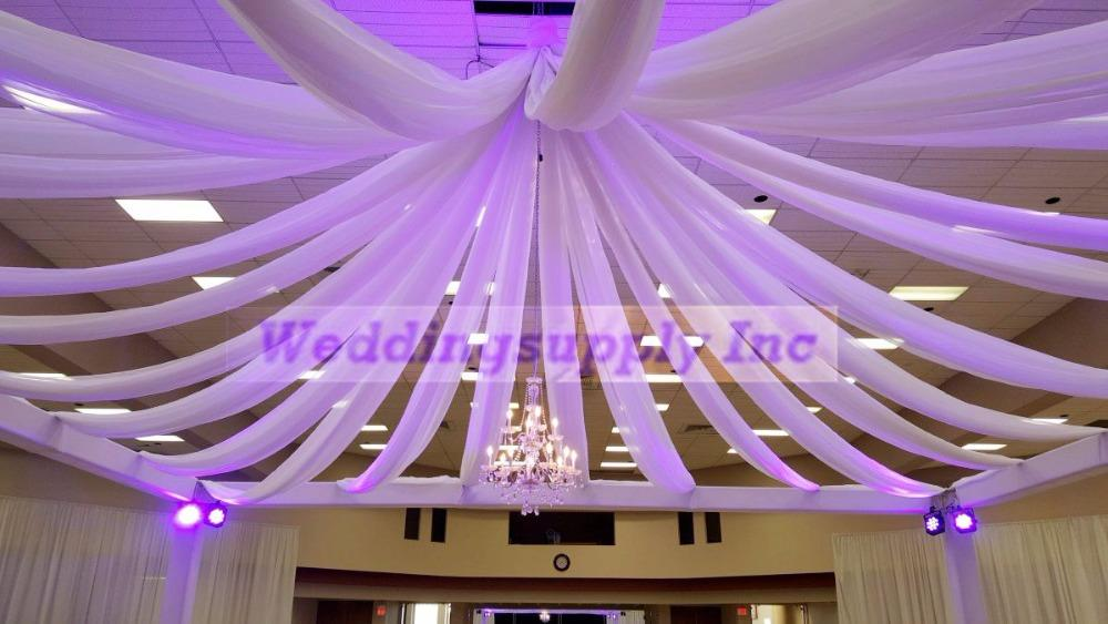 70cm 10m Ceiling Drapes Roof Drape For Wedding Banquet Christmas Grand Event New Year Decoration Material Is Ice Silk Fabric