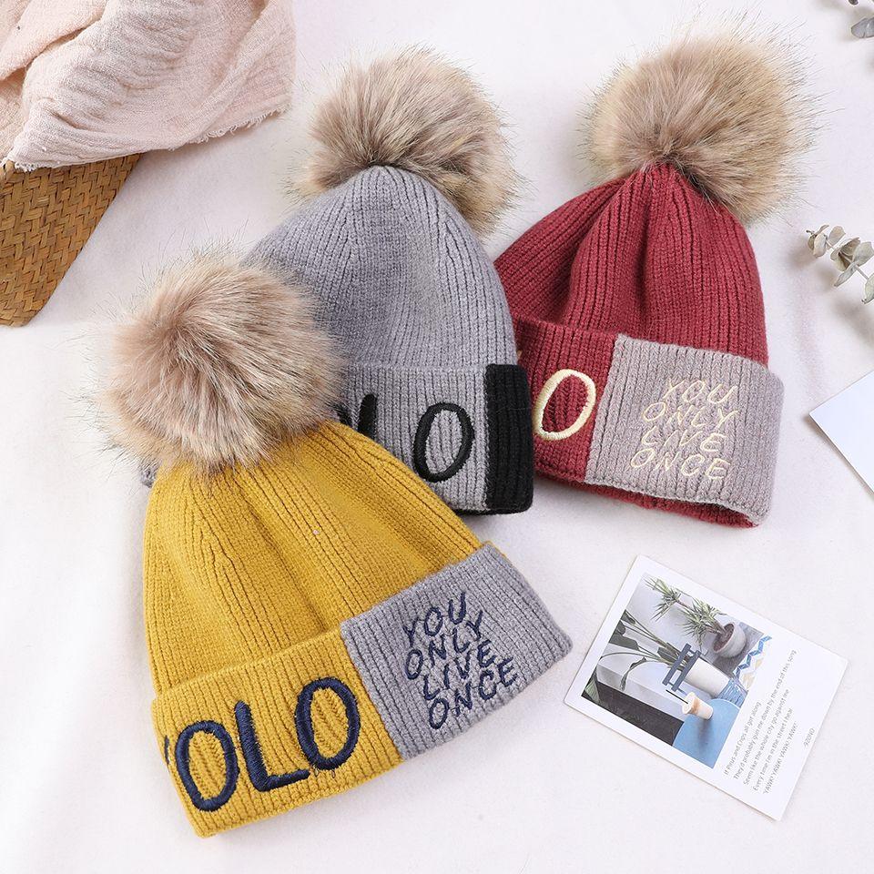 05ba6707001 2019 Children Hat Toddler Kids Baby Warm Winter Wool Hat Knit Skullies  Beanie Fur Pom Pom Baby Boys Girls Cap Bonnet For Girl Boy From Fwuyun