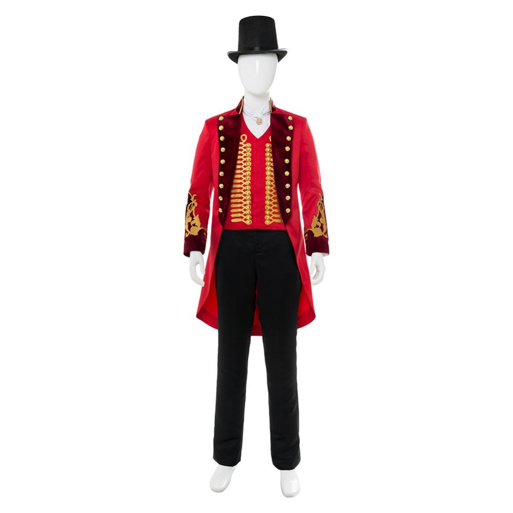 Acquista Ot Movie The Greatest Showman P.T. Barnum Cospaly Costume Adutl  Uomo Set Completo Uniforme Costume Di Carnevale Di Halloween Costume Hot  Film . 426829598baf