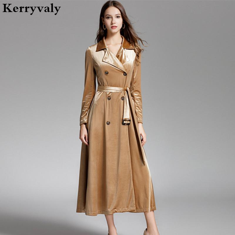 ad8890d88c06 Boutique Gold Velvet Winter Dress Women Long Designer Dresses Runway 2018  High Quality Long Sleeve Maxi Dress Robe Longue D1612 Unique Prom Dresses  Buy ...