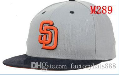 49865348c97 Fitted Hats Sunhat Padres Team Baseball Embroidered Team Letter Flat ...