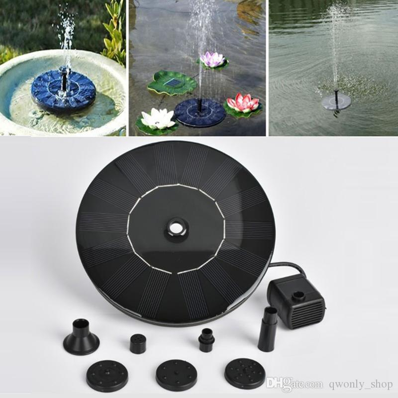Submersible Pond Solar Fountain Water Kit Garden Panel Power Pool Pump Garden Sprinklers Home & Garden