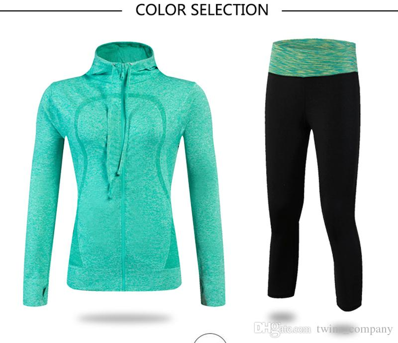 New Women Suit Gym Sportswear Leggings Running Sets Women'S Tracksuits Sport Suit Compression Fitness Tights Sweatshirt