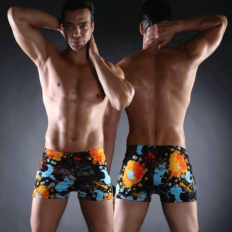 90c34cdb4f 2019 Classical Swimming Men Shorts Swimwear 2017 Allover Print Sexy Mens  Swim Trunks Big Size Men XXXL Swimsuit From Jingju, $33.55 | DHgate.Com