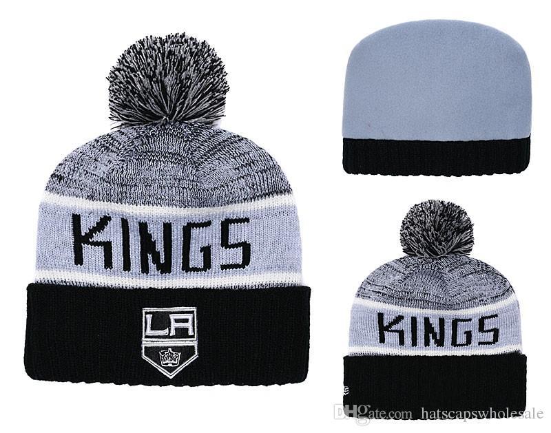 innovative design ac520 b12a2 1 Piece Cheap 2019 New Fans Store Los Angeles Kings Sport Cuffed Knit Hat  Brand Fashion Hockey All Team CapitalSport Beanie Hats Bones