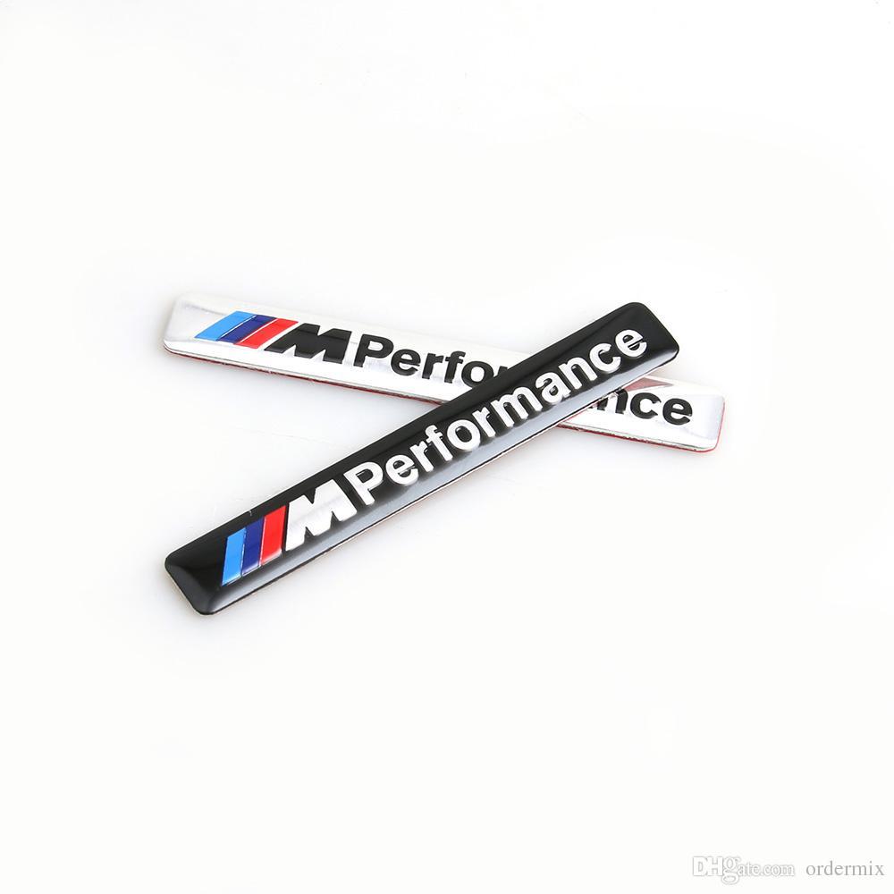 M desempenho Motorsport metal logotipo carro adesivo de alumínio Emblema grade emblema para BMW E34 E36 E39 E53 E60 E90 F10 F30 M3 M5 M6