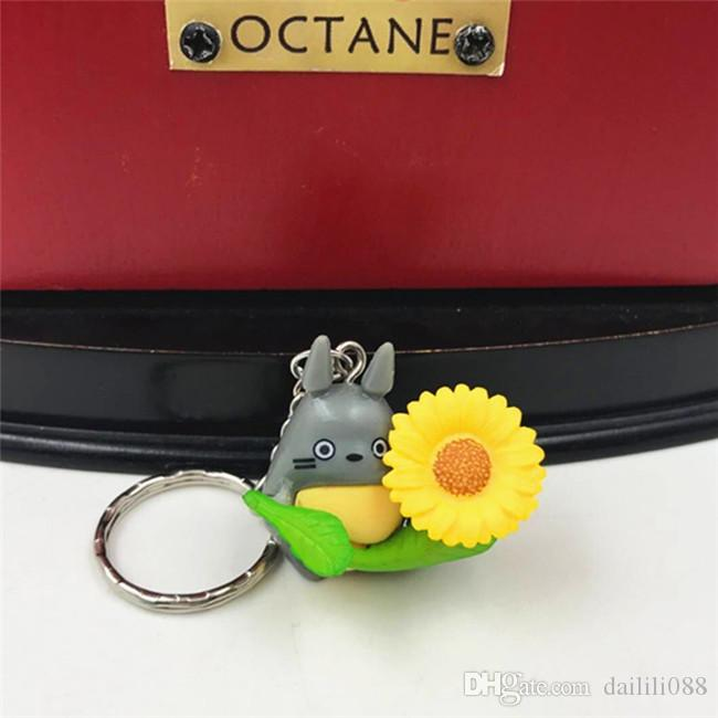LilyToyFirm Japan Anime Cartoon Totoro Key Chain Key Ring Bag Hanging Pendant Action Figures Decoration Jewelry for Men Women