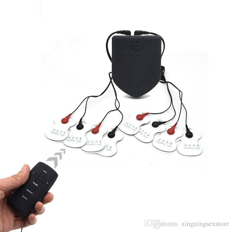 Drahtlose Fernbedienung Elektroschock Pads Klebrige Paste Massage Ganzkörper Medizinisches Thema Elektrostimulator Sexspielzeug Sexshop