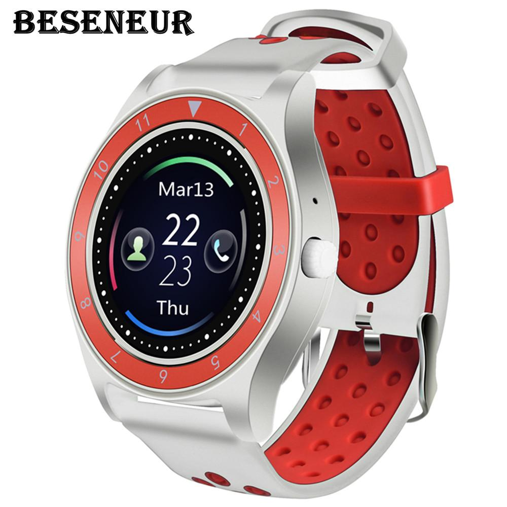 Beseneur Camera Smart Watch R10 Support SIM Card Pedometer Smartwatch for  Android Phone PK V9 V10 Wearable Devices