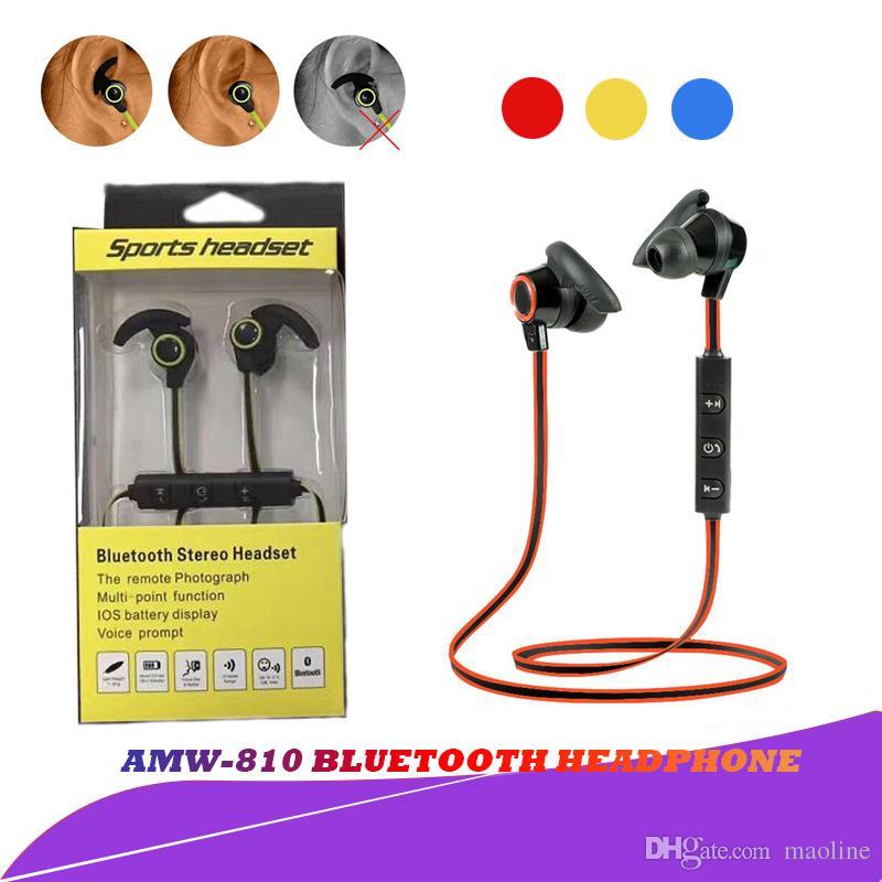 Cuffie In Ear Top AMW810 Bluetooth Cuffie Senza Fili Da Corsa Sport  Auricolari Cuffie BT 4.1 Con Microfono MP3 Auricolari IPhone Huawei Samsung  LG ... aaaefb9bf1b7