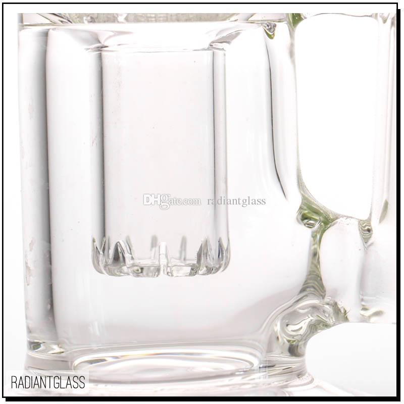 18 pouces bang en verre haut bang 8 bras arbre Perc pipe en verre 5mm tuyaux d'eau transparents avec accessoires