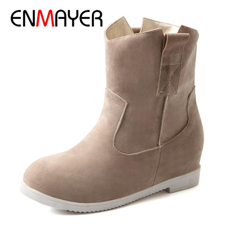 04ddb75b0468d ENMAYER 2018 NEW Women Winter Boots Female Down Waterproof Warm Simple Girls  Snow Boots Ladies Shoes Woman Warm Fur Botas CY042 Leather Boots For Women  ...