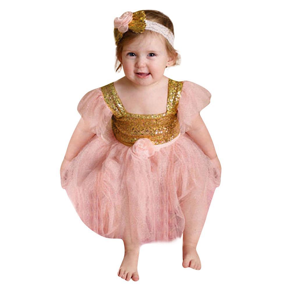 84f6dd5da MUQGEW Vestido de la princesa Para niños niñas Bebé recién nacido Niñas  Flores sin mangas Ropa para niños Vestido de la princesa + Conjunto de ...