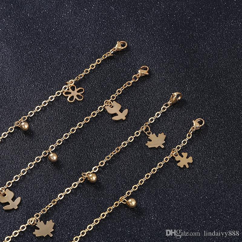 Braccialetto a forma di cuore della stella chiave le donne dell'uomo del braccialetto della catena della nappa 25cm della catena del braccialetto della catena del braccialetto della catena di modo della catena della nappa dell uomo 25cm
