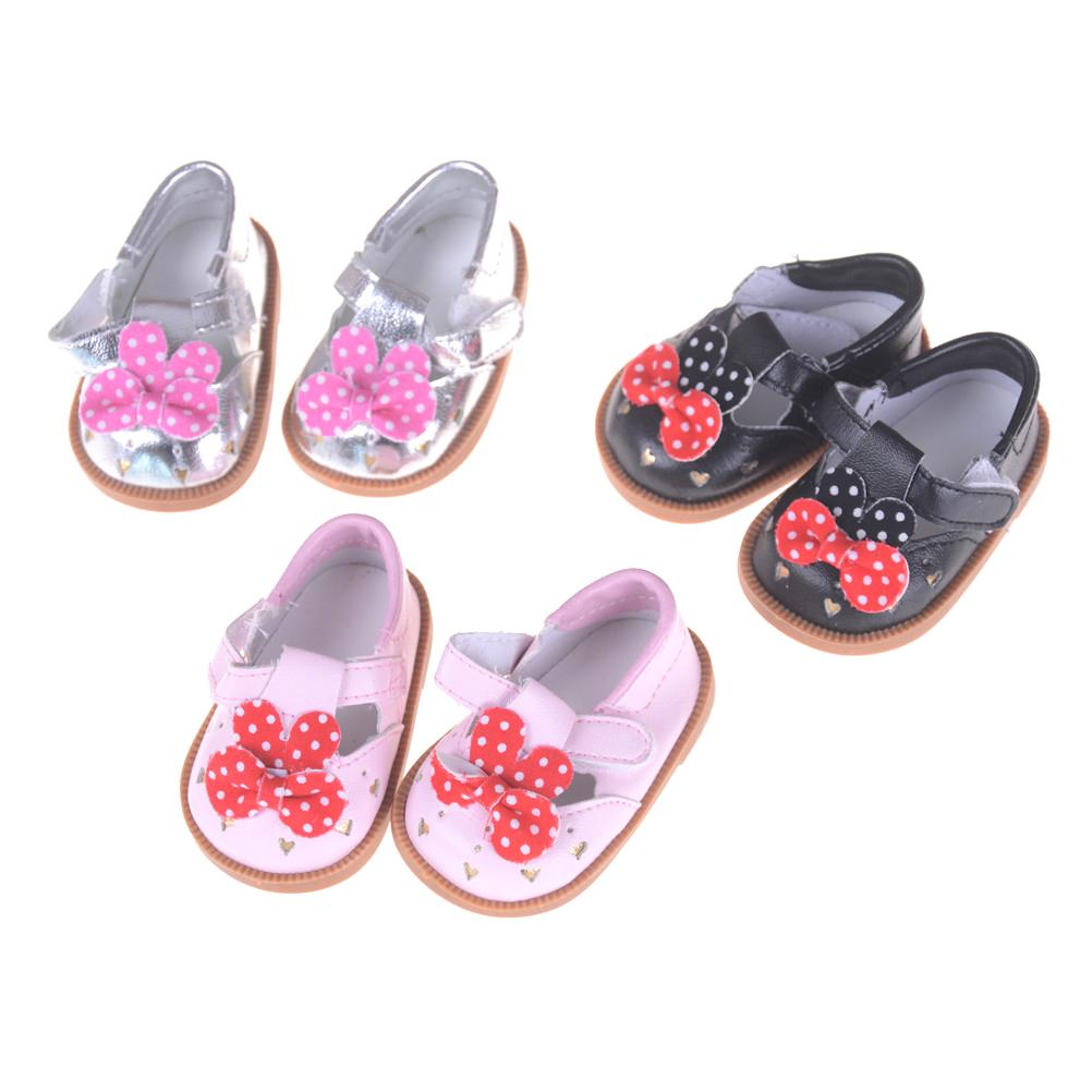 American Girl Doll Shoes Pink Black Silver Sandals Shoes Fit 18 Inch  American Girl Doll Accessories Dollhouse Cheap Dollhouse Online Shopping  From Toyshome 471034d278c3