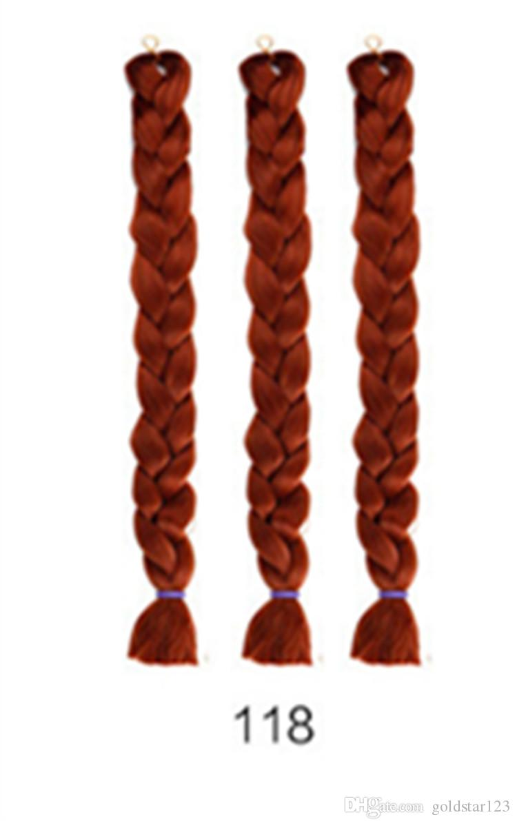 100 grams and 24 inches inof chemical fiber big braids mine ghost dirty braid dyed wig